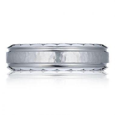 Tacori Platinum Mixed Finish Men's Wedding Band