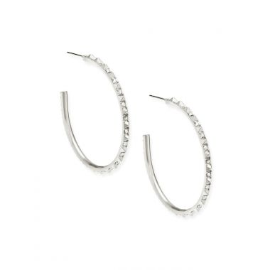 Kendra Scott Veronica Hoop Earrings in Silver