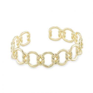 Kendra Scott Kendra Scott Gold Metal Fallyn Cuff Bracelet