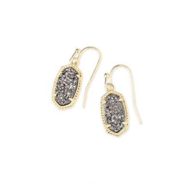 Kendra Scott 14 KT Gold Plated Lee Drop Earrings in Platinum Drusy