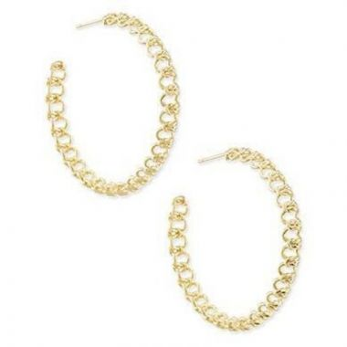 Kendra Scott Gold Metal Fallyn Hoop Earrings