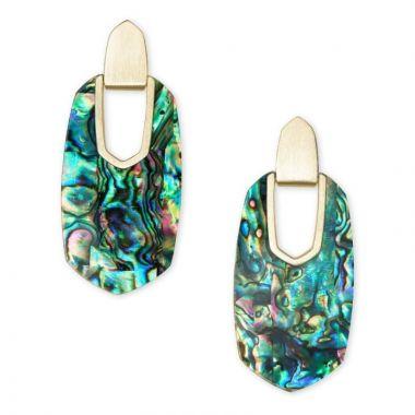 Kendra Scott 14 KT Gold Plated Kailyn Drop Earrings in Abalone Shell