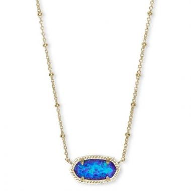Kendra Scott 14 KT Gold Plated Elisa Satellite Short Necklace in Violet Opal
