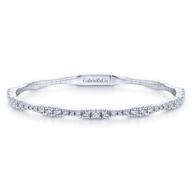 Gabriel & Co. 14k White Gold Demure Diamond Bangle Bracelet