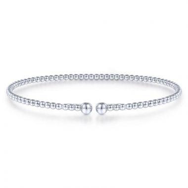 Gabriel & Co. 14k White Gold Bujukan Bangle Bracelet