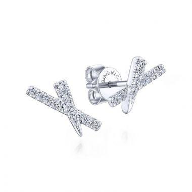 Gabriel & Co. 14k White Gold Kaslique Diamond Stud Earrings