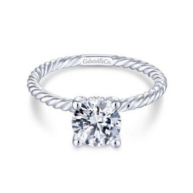 Gabriel & Co. 14k White Gold Hampton Solitaire Engagement Ring