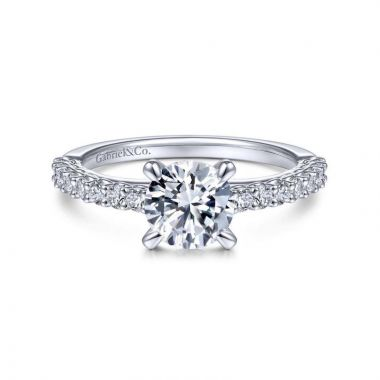 Gabriel & Co. 14k White Gold Classic Straight Engagement Ring