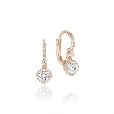 Tacori 18k Rose Gold Tacori Diamond Jewelry Drop Earring