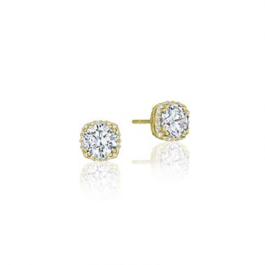 Tacori 18k Yellow Gold Tacori Diamond Jewelry Stud Earrings