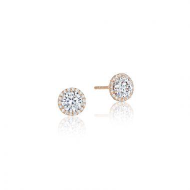 Tacori 18k Rose Gold Tacori Diamond Jewelry Stud Earrings