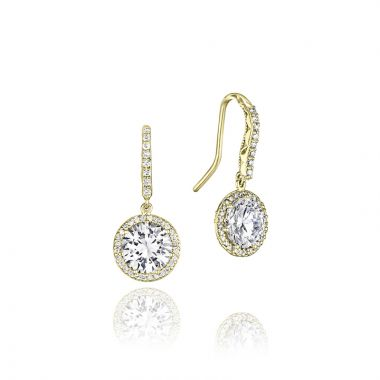 Tacori 18k Yellow Gold Tacori Diamond Jewelry Drop Earring