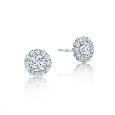 Tacori 18k White Gold Tacori Diamond Jewelry Stud Earrings
