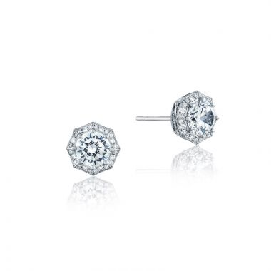 Tacori 18k White Gold Tacori Diamond Jewelry Stud Earring