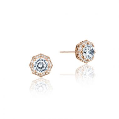 Tacori 18k Rose Gold Tacori Diamond Jewelry Stud Earring