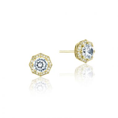 Tacori 18k Yellow Gold Tacori Diamond Jewelry Stud Earring