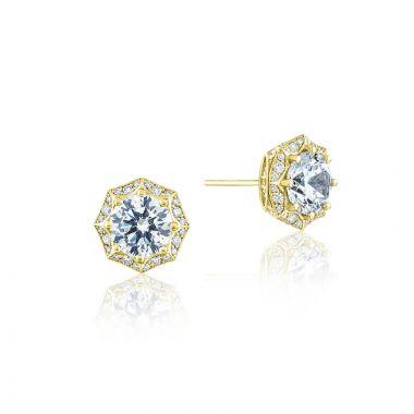 Tacori 18k Yellow Gold Tacori Diamond Jewelry Stud Earring