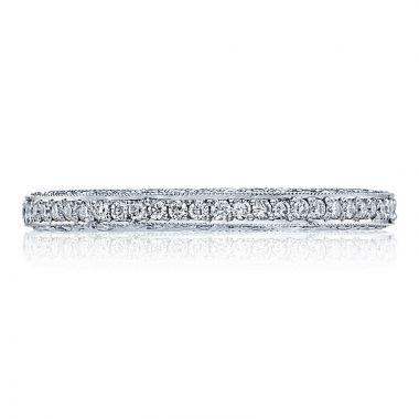 Tacori Platinum Classic Crescent Eternity Diamond Women's Wedding Band