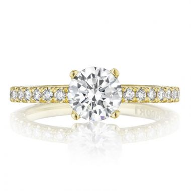 Tacori 18k Yellow Gold Petite Crescent Straight Diamond Engagement Ring