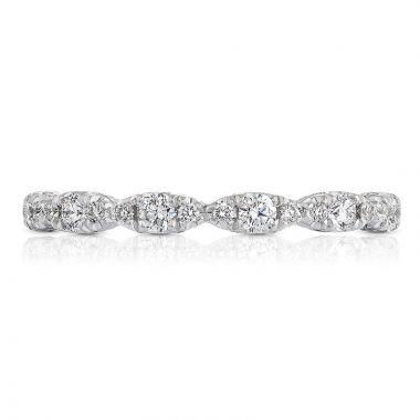 Tacori Platinum Petite Crescent Eternity Diamond Women's Wedding Band