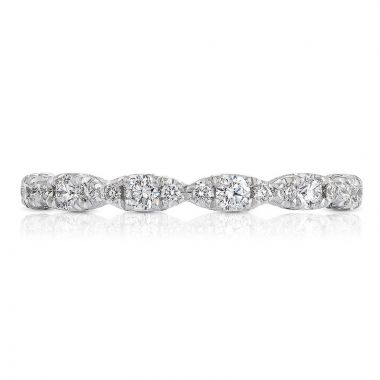 Tacori Platinum Petite Crescent Anniversary Diamond Women's Wedding Band