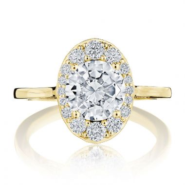 Tacori 18k Yellow Gold INFLORI Halo Diamond Engagement Ring