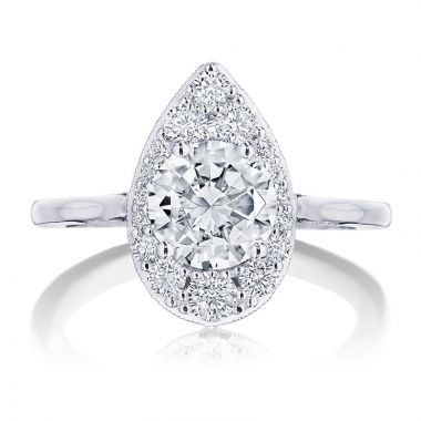Tacori Platinum INFLORI Halo Diamond Engagement Ring