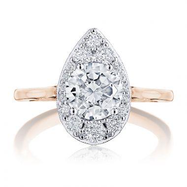 Tacori 18k White Gold INFLORI Halo Diamond Engagement Ring