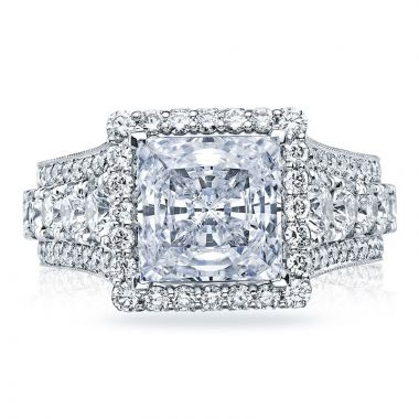 Tacori Platinum RoyalT Halo Diamond Engagement Ring