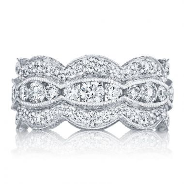 Tacori Platinum Adoration Eternity Diamond Women's Wedding Band
