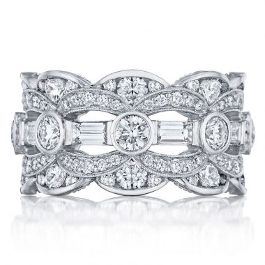 Tacori Platinum Adoration Eternity Diamond Women's Wedding Band