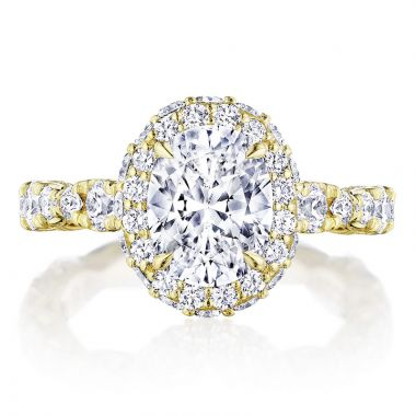Tacori 18k Yellow Gold RoyalT Halo Diamond Engagement Ring