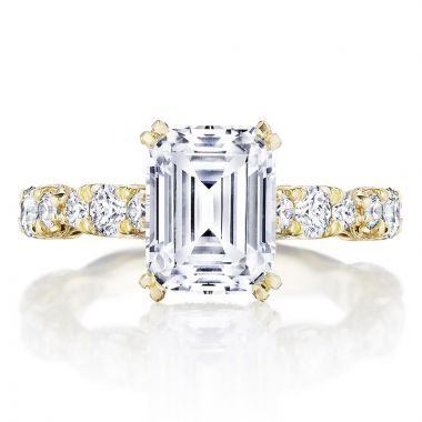 Tacori 18k Yellow Gold RoyalT Straight Diamond Engagement Ring