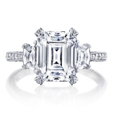 Tacori Platinum RoyalT 3 Stone Diamond Engagement Ring