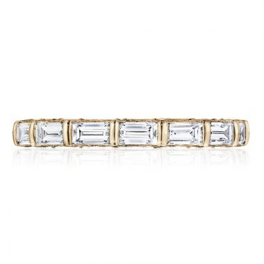 Tacori 18k Rose Gold RoyalT Eternity Diamond Women's Wedding Band