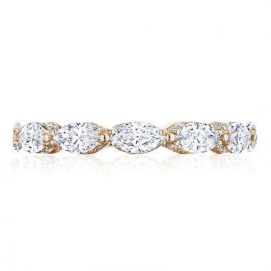 Tacori 18k Rose Gold RoyalT Eternity Diamond Women's Wedding Band