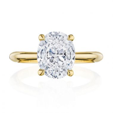 Tacori 18k Yellow Gold RoyalT Solitaire Diamond Engagement Ring