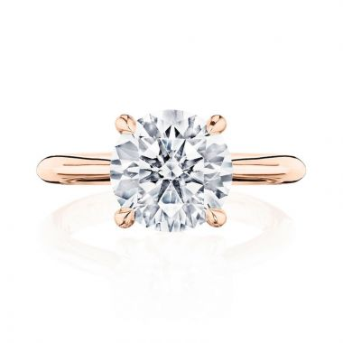 Tacori 18k Rose Gold RoyalT Solitaire Diamond Engagement Ring
