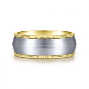Gabriel & Co. 14k Two Tone Gold Exclusive Men's Wedding Band