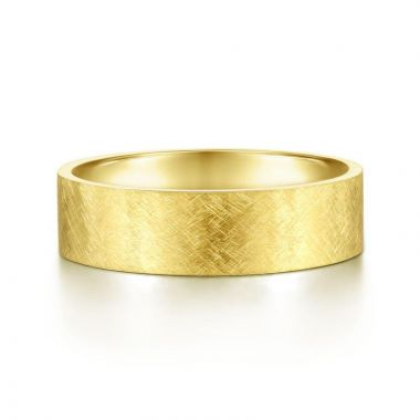 Gabriel & Co. 14k Yellow Gold Signature Men's Wedding Band