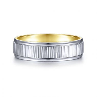 Gabriel & Co. 14k Rose Gold Signature Men's Wedding Band