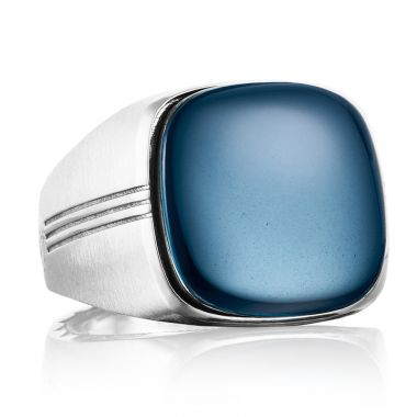 Tacori Sterling Silver Legend Gemstone Men's Ring