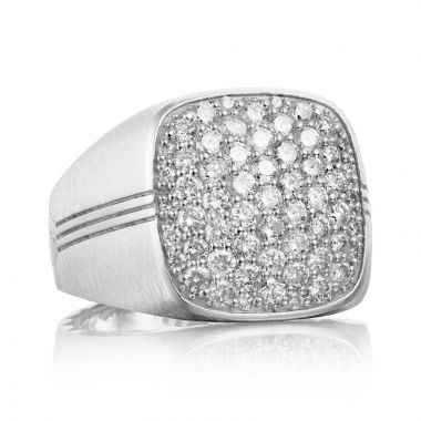 Tacori Sterling Silver Legend Diamond Men's Ring