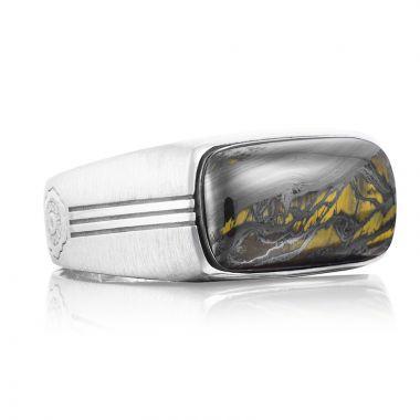 Tacori Sterling Silver Legend Gemstone Men's Ring