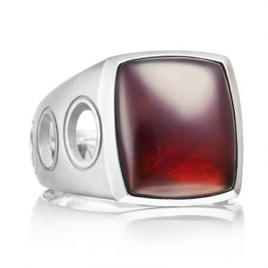 Tacori Sterling Silver Monterey Roadster Gemstone Men's Ring