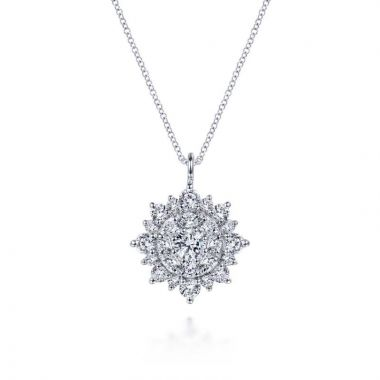 Gabriel & Co. 14k White Gold Lusso Diamond Necklace