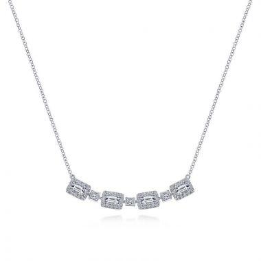 Gabriel & Co. 14k White Gold Lusso Diamond Necklace
