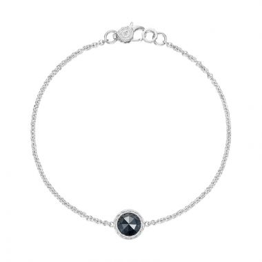 Tacori Sterling Silver Crescent Embrace Gemstone Women's Bracelet