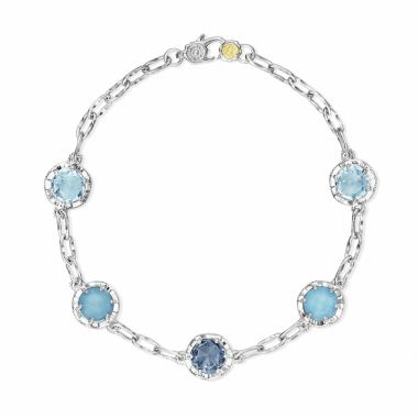 Tacori Sterling Silver Crescent Crown Gemstone Women's Bracelet