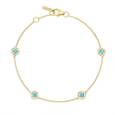 Tacori 14k Yellow Gold Petite Gemstones Women's Bracelet